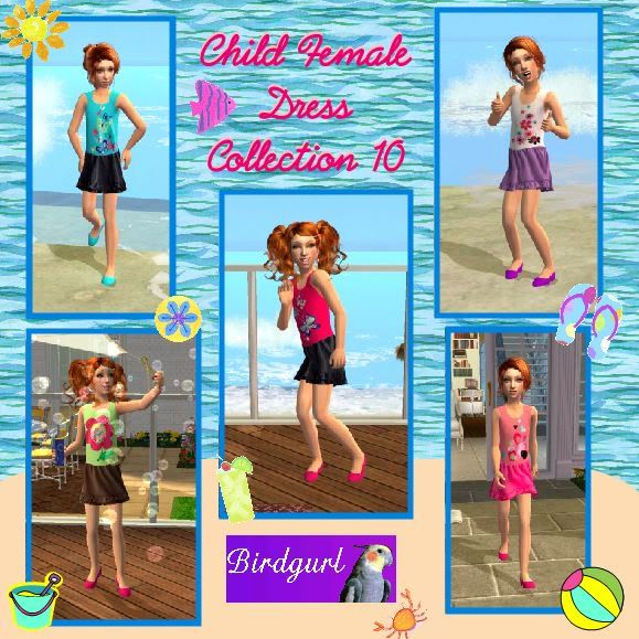 Birdgurl's Sims 2 Creations ChildFemaleDressCollection10banner