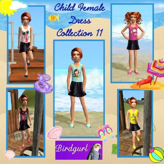 Birdgurl's Sims 2 Creations ChildFemaleDressCollection11