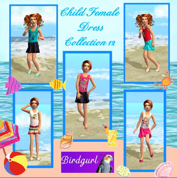 Birdgurl's Sims 2 Creations ChildFemaleDressCollection12banner