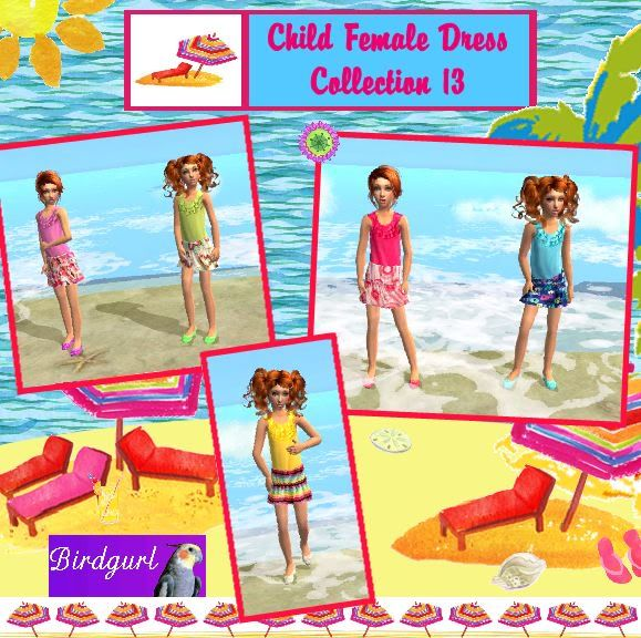 Birdgurl's Sims 2 Creations ChildFemaleDressCollection13banner