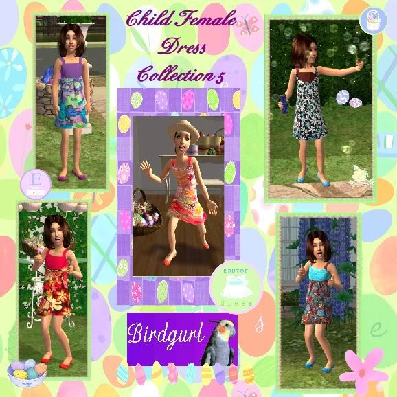 Birdgurl's Sims 2 Creations ChildFemaleDressCollection5banner