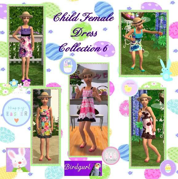 Birdgurl's Sims 2 Creations ChildFemaleDressCollection6banner