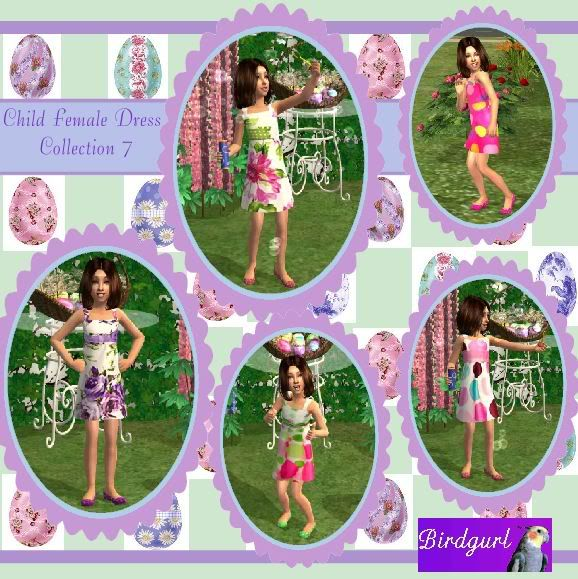 Birdgurl's Sims 2 Creations ChildFemaleDressCollection7banner-1