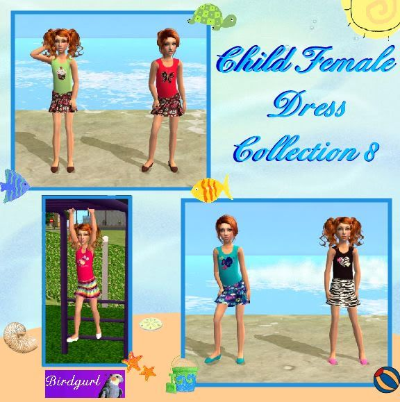 Birdgurl's Sims 2 Creations ChildFemaleDressCollection8banner