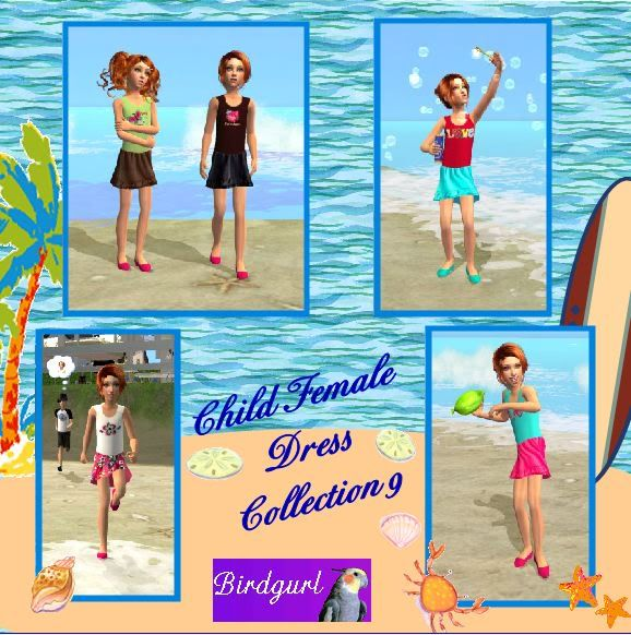 Birdgurl's Sims 2 Creations ChildFemaleDressCollection9banner