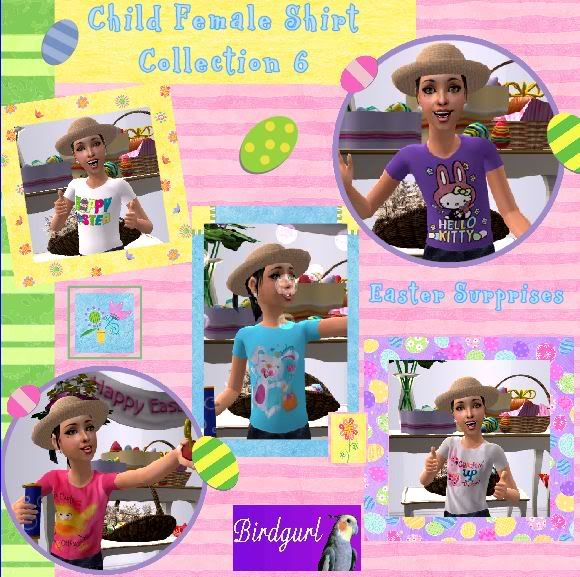 Birdgurl's Sims 2 Creations ChildFemaleShirtCollection6banner
