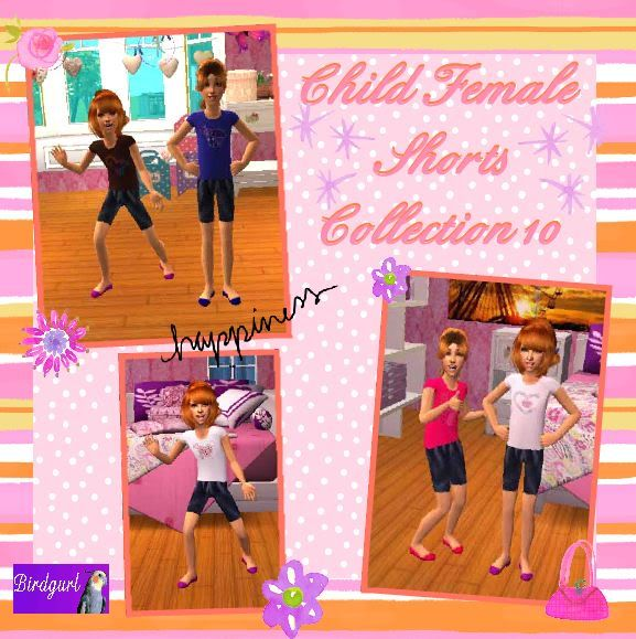 Birdgurl's Sims 2 Creations - Page 2 ChildFemaleShortsCollection10banner