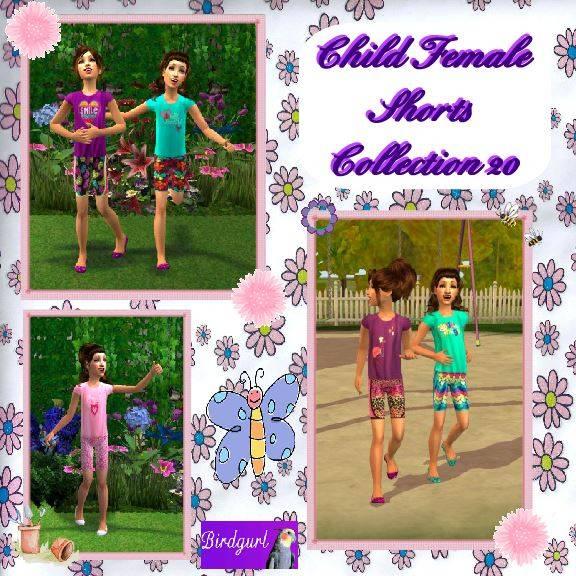 Birdgurl's Sims 2 Creations - Page 8 ChildFemaleShortsCollection20banner_zps9001ffc0