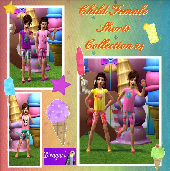 Birdgurl's Sims 2 Creations - Page 8 ChildFemaleShortsCollection24banner_zps3eb7ed61
