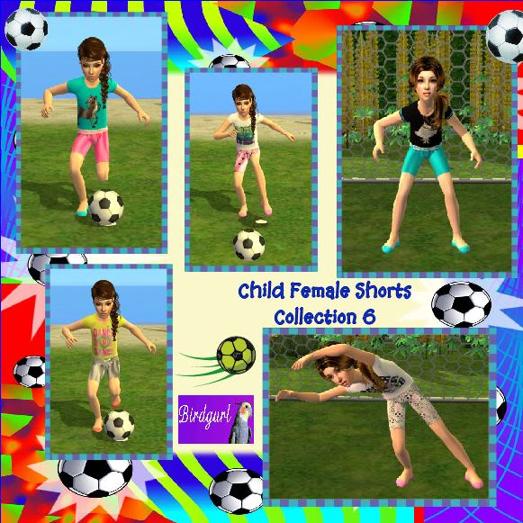 Birdgurl's Sims 2 Creations ChildFemaleShortsCollection6banner