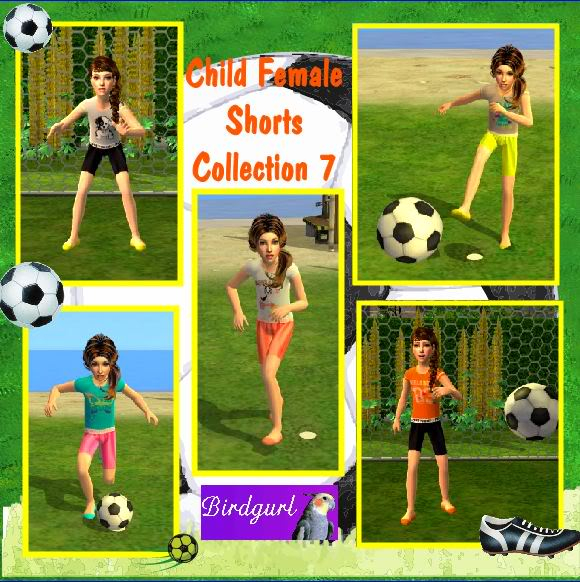 Birdgurl's Sims 2 Creations ChildFemaleShortsCollection7banner