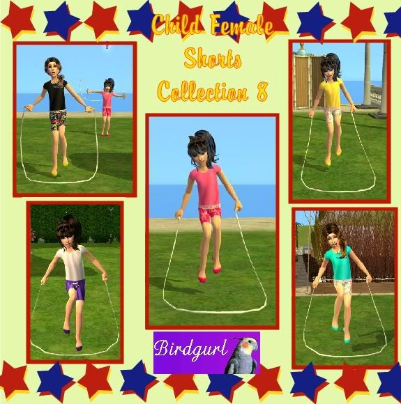 Birdgurl's Sims 2 Creations ChildFemaleShortsCollection8banner