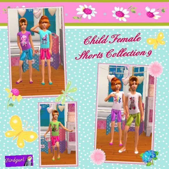Birdgurl's Sims 2 Creations - Page 2 ChildFemaleShortsCollection9banner
