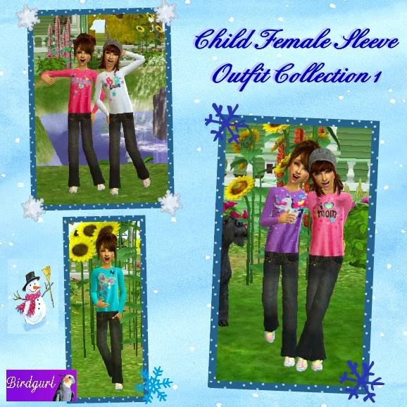 Birdgurl's Sims 2 Creations - Page 3 ChildFemaleSleeveOutfitCollection1banner