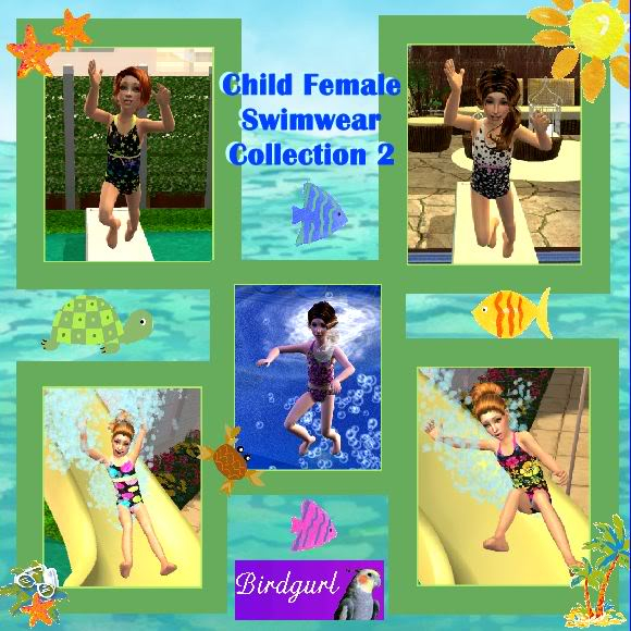 Birdgurl's Sims 2 Creations ChildFemaleSwimsuitsCollection2banner