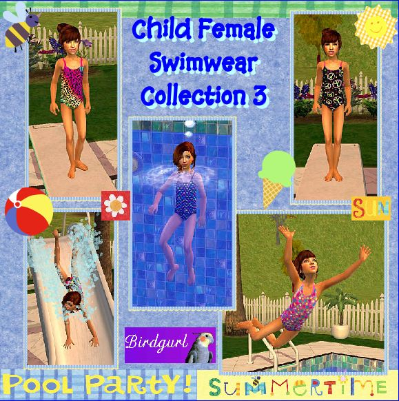 Birdgurl's Sims 2 Creations - Page 5 ChildFemaleSwimwearCollection3banner