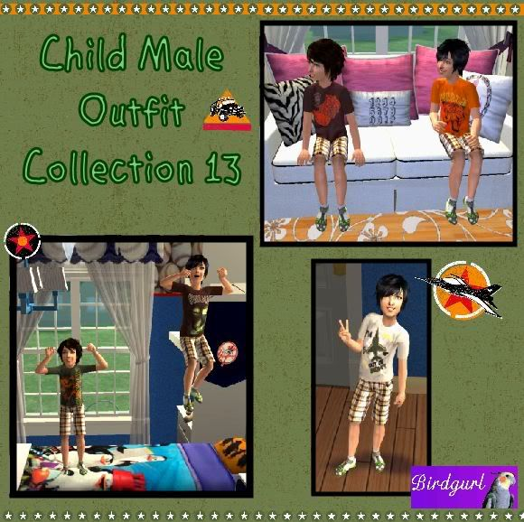 Birdgurl's Sims 2 Creations ChildMaleOutfitCollection13banner