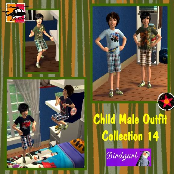 Birdgurl's Sims 2 Creations ChildMaleOutfitCollection14banner