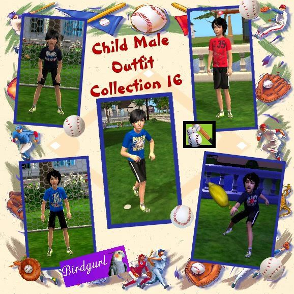 Birdgurl's Sims 2 Creations ChildMaleOutfitCollection16banner