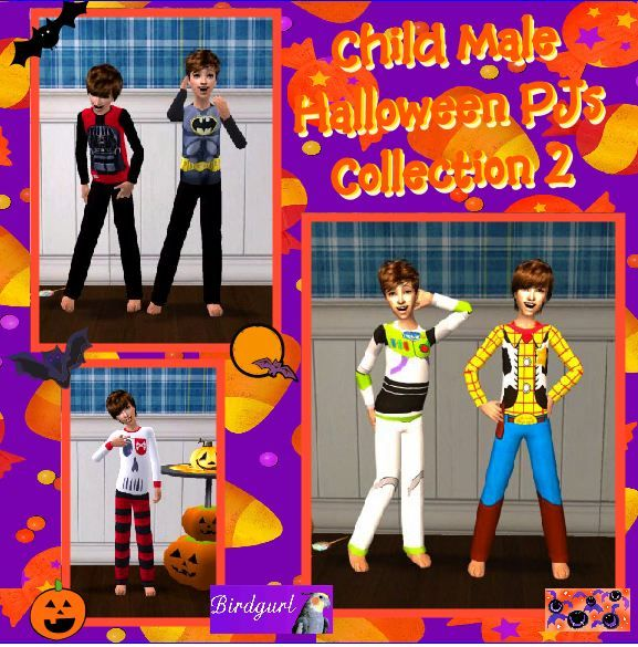 Birdgurl's Sims 2 Creations - Page 5 ChildMaleHalloweenPJsCollection2banner