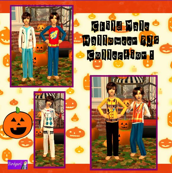 Birdgurl's Sims 2 Creations - Page 2 ChildMaleHalloweenPJsCollection1banner