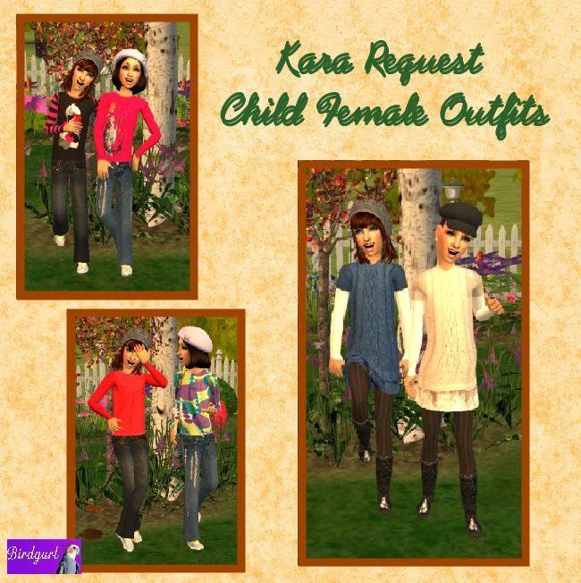 Birdgurl's Sims 2 Creations - Page 3 KaraRequest-ChildFemaleOutfitsbanner1