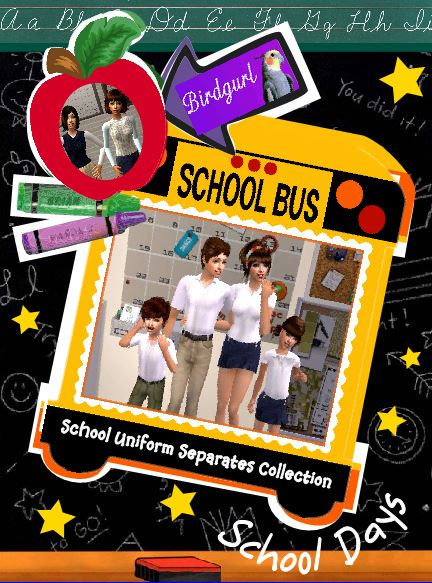 Birdgurl's Sims 2 Creations - Page 7 SchoolUniformClothesCollectionbanner_zps4f55315b