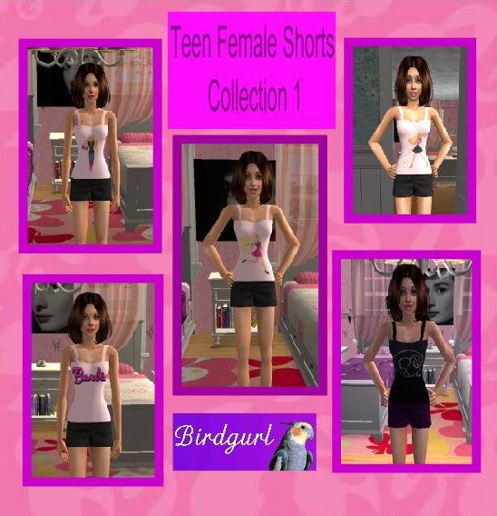 Birdgurl's Sims 2 Creations TeenFemaleShortsCollection1banner