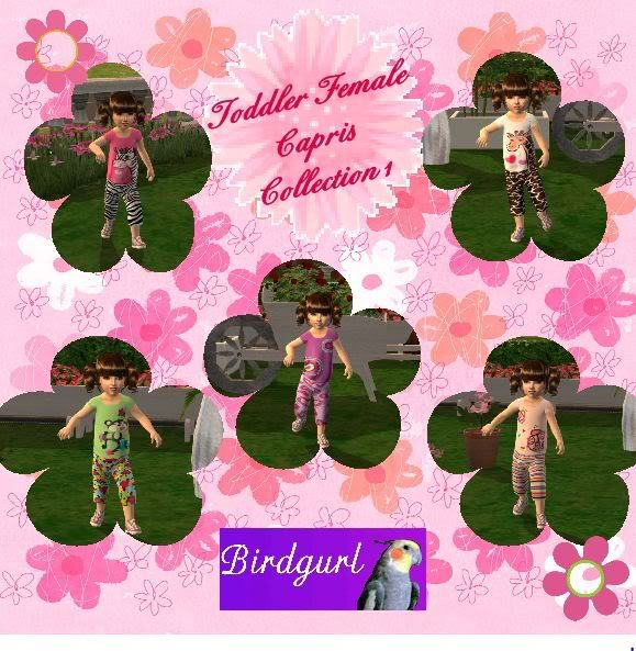 Birdgurl's Sims 2 Creations ToddlerFemaleCaprisCollection1banner