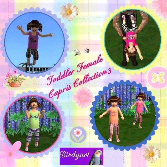 Birdgurl's Sims 2 Creations ToddlerFemaleCaprisCollection3banner