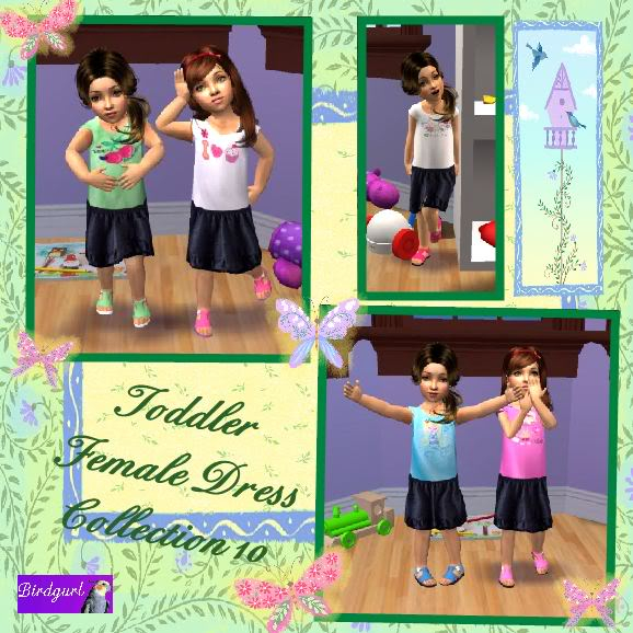 Birdgurl's Sims 2 Creations ToddlerFemaleDressCollection10banner