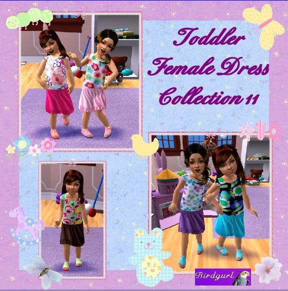 Birdgurl's Sims 2 Creations ToddlerFemaleDressCollection11banner