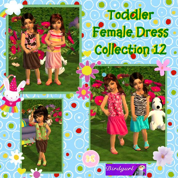 Birdgurl's Sims 2 Creations ToddlerFemaleDressCollection12banner
