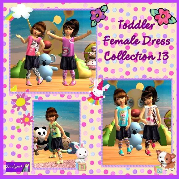 Birdgurl's Sims 2 Creations ToddlerFemaleDressCollection13banner