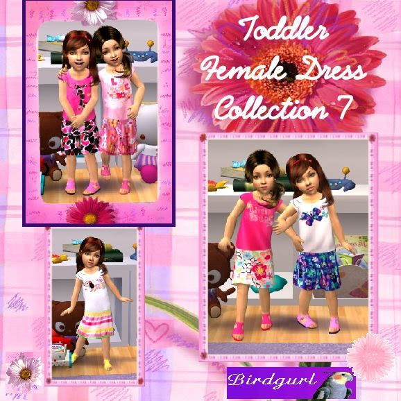 Birdgurl's Sims 2 Creations ToddlerFemaleDressCollection7banner