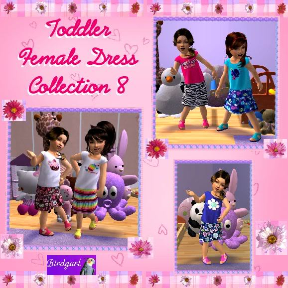 Birdgurl's Sims 2 Creations ToddlerFemaleDressCollection8banner
