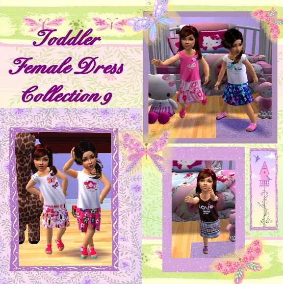 Birdgurl's Sims 2 Creations ToddlerFemaleDressCollection9banner