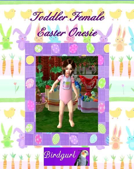 Birdgurl's Sims 2 Creations ToddlerFemaleEasterOnesiebanner