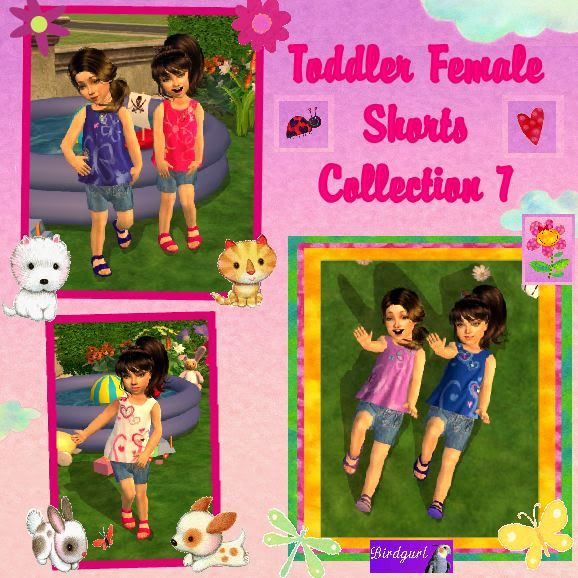 Birdgurl's Sims 2 Creations ToddlerFemaleShortsCollection7banner