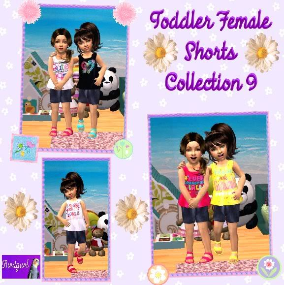 Birdgurl's Sims 2 Creations ToddlerFemaleShortsCollection9banner