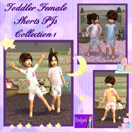 Birdgurl's Sims 2 Creations - Page 9 ToddlerFemaleShortsPJsCollection1banner_zps40290f52