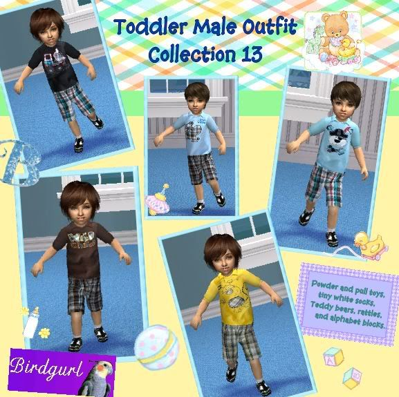 Birdgurl's Sims 2 Creations ToddlerMaleOutfitCollection13banner