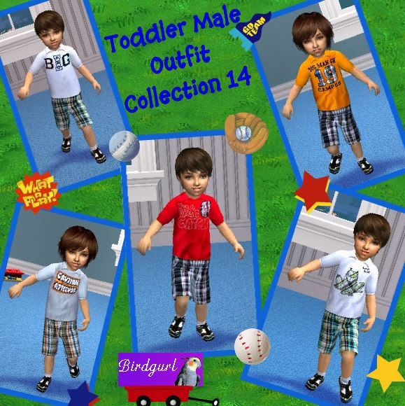 Birdgurl's Sims 2 Creations ToddlerMaleOutfitCollection14banner