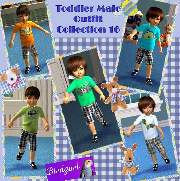 Birdgurl's Sims 2 Creations ToddlerMaleOutfitCollection16banner