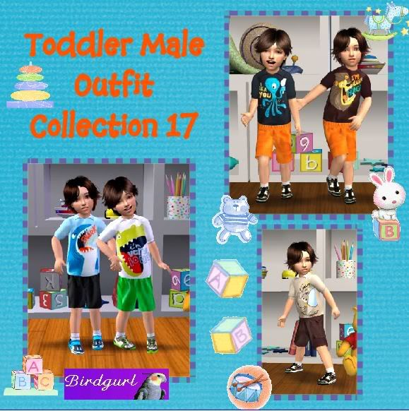 Birdgurl's Sims 2 Creations ToddlerMaleOutfitCollection17banner