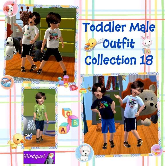 Birdgurl's Sims 2 Creations ToddlerMaleOutfitCollection18banner