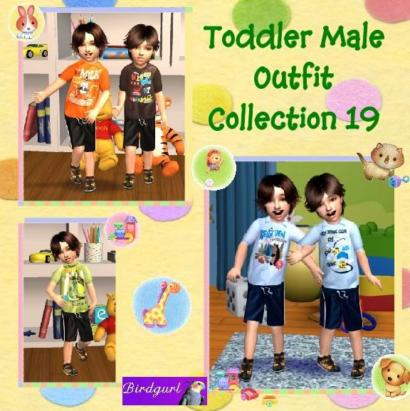 Birdgurl's Sims 2 Creations ToddlerMaleOutfitCollection19banner