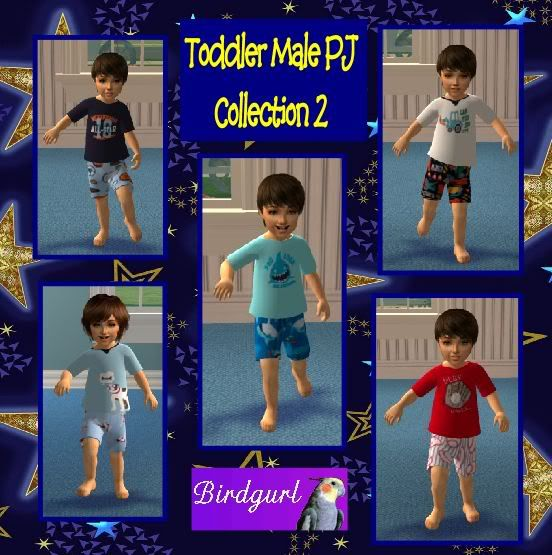 Birdgurl's Sims 2 Creations ToddlerMalePJsCollection2banner