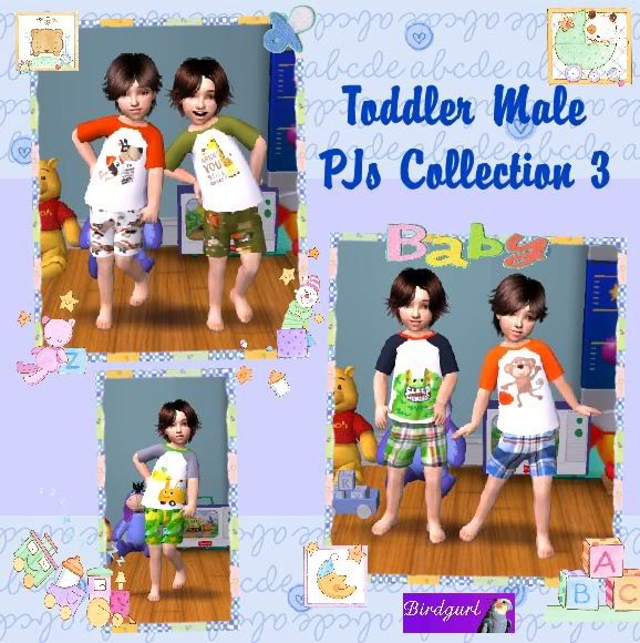 Birdgurl's Sims 2 Creations ToddlerMalePJsCollection3banner