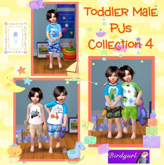 Birdgurl's Sims 2 Creations ToddlerMalePJsCollection4banner